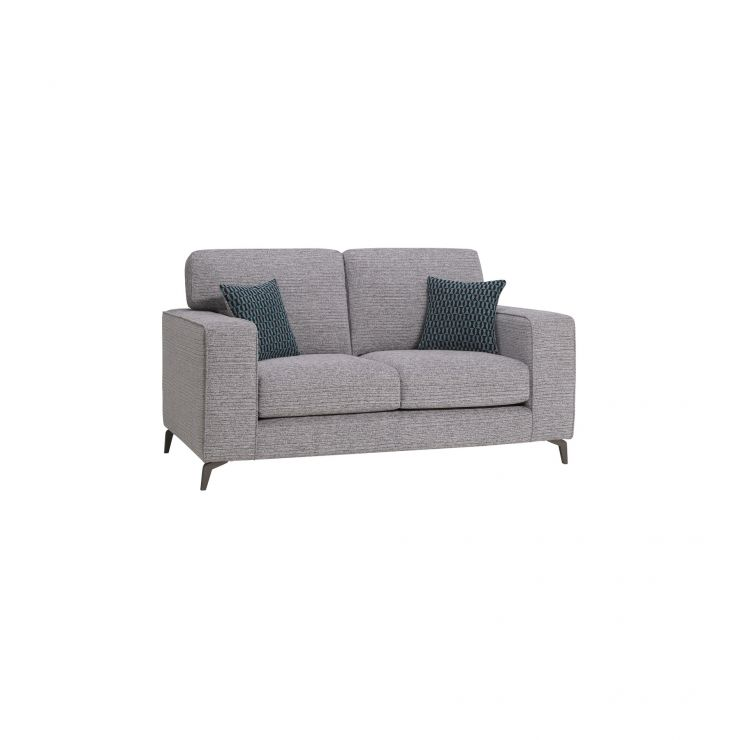 Cube Grey Fabric 2 Seater Sofa