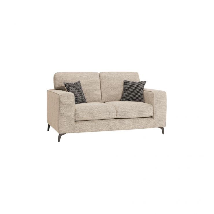 Cube Beige Fabric 2 Seater Sofa
