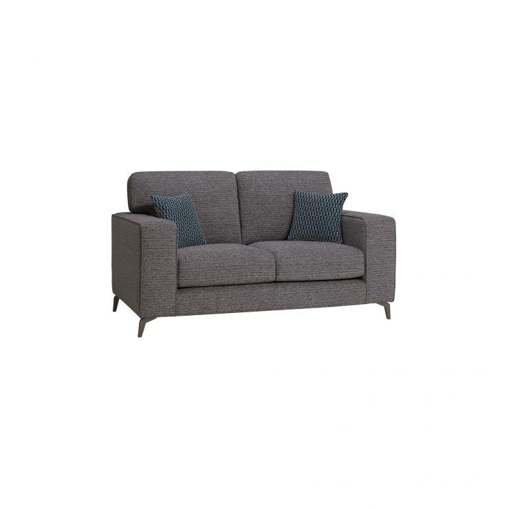 Cube Charcoal Fabric 2 Seater Sofa