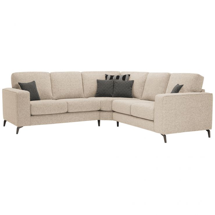 Cube 2 x 2 Beige Corner Sofa in Fabric