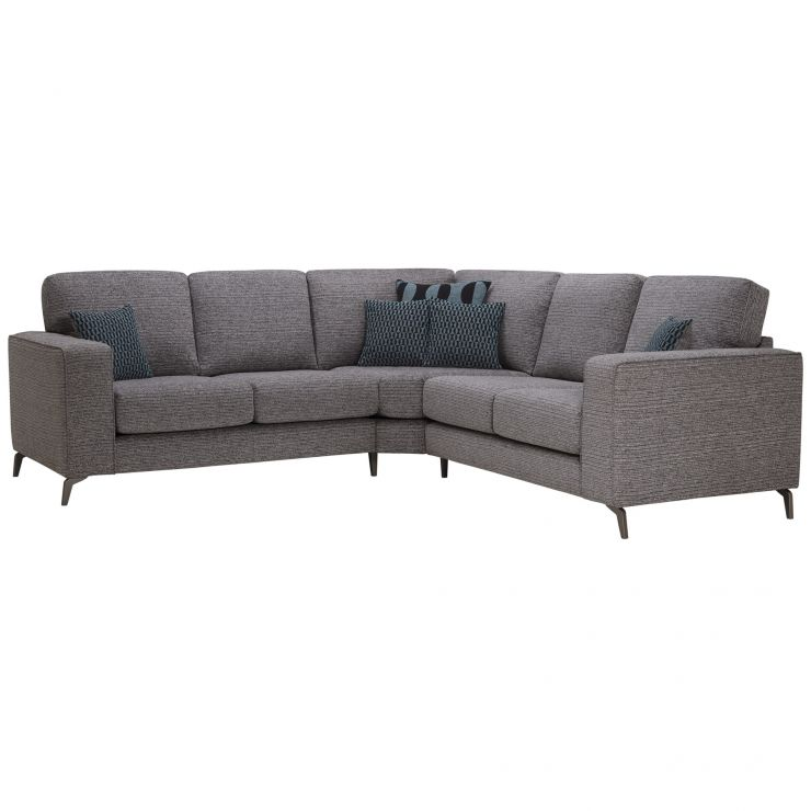 Cube 2 x 2 Charcoal Corner Sofa in Fabric