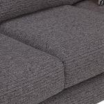Cube 2 x 2 Charcoal Corner Sofa in Fabric - Thumbnail 5