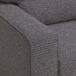 Cube 2 x 2 Charcoal Corner Sofa in Fabric - Thumbnail 4