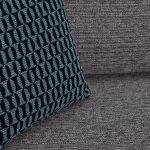 Cube 2 x 2 Charcoal Corner Sofa in Fabric - Thumbnail 6
