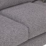 Cube 2 x 2 Grey Corner Sofa in Fabric - Thumbnail 5