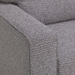 Cube 2 x 2 Grey Corner Sofa in Fabric - Thumbnail 3