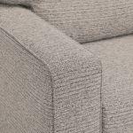 Cube 2 x 2 Stone Corner Sofa in Fabric - Thumbnail 4
