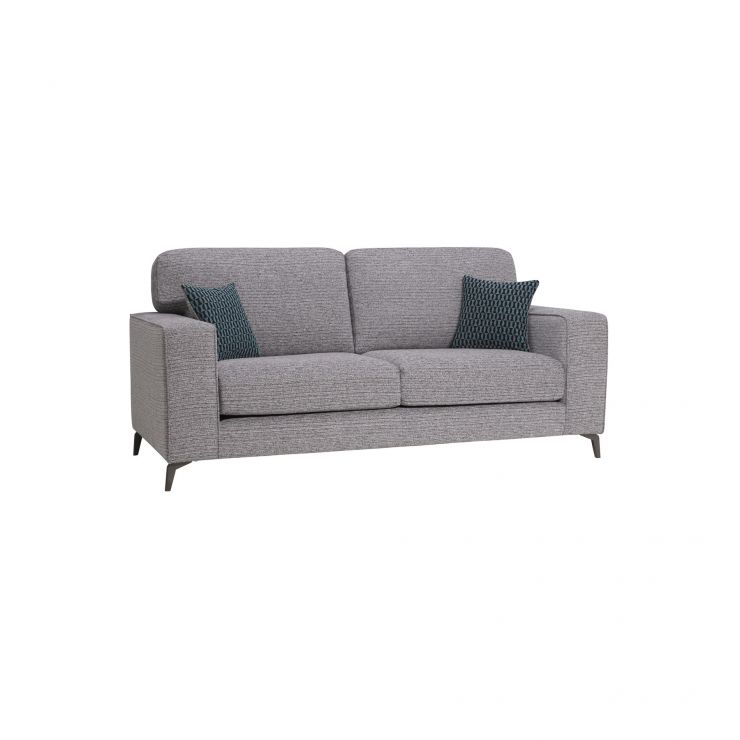 Cube Grey 3 Seater Sofa in Fabric - Image 1