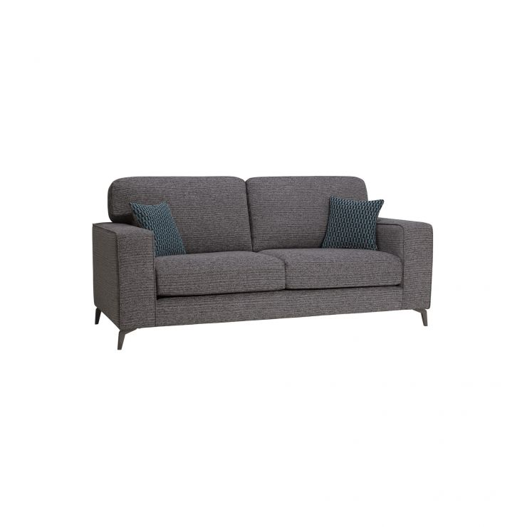 Cube Charcoal 3 Seater Sofa in Fabric