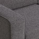 Cube Charcoal 3 Seater Sofa in Fabric - Thumbnail 6