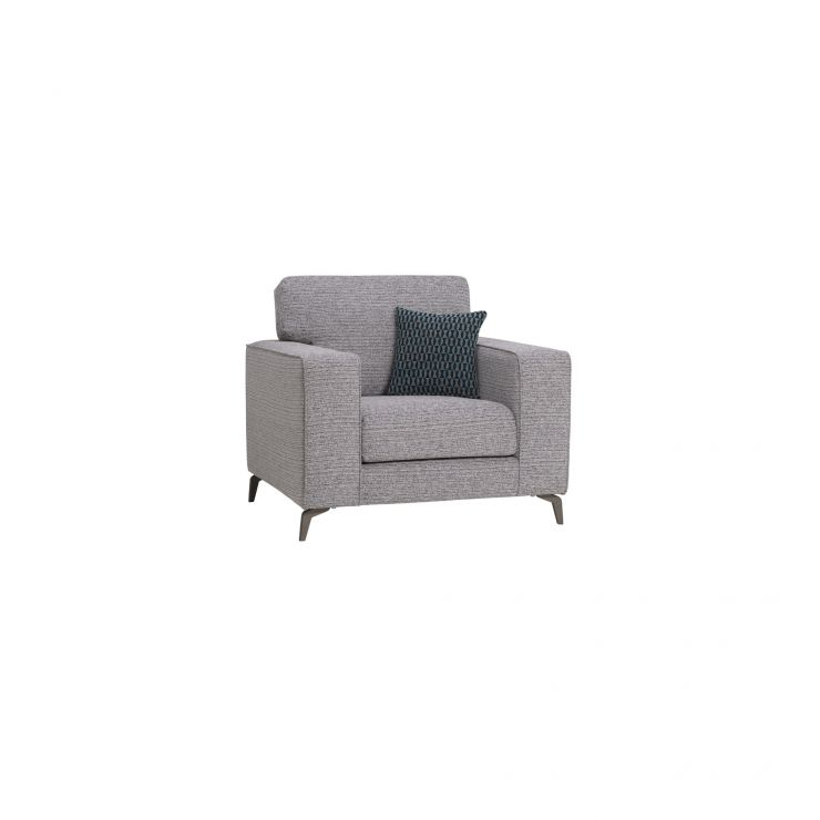 Cube Grey Armchair in Fabric
