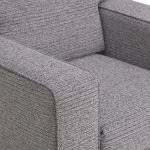 Cube Grey Armchair in Fabric - Thumbnail 6