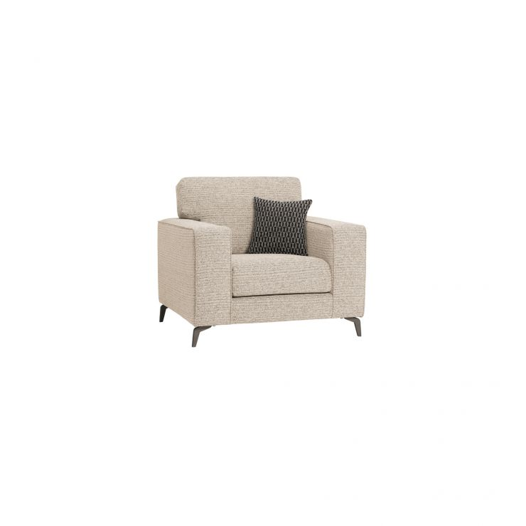 Cube Beige Armchair in Fabric