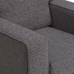 Cube Charcoal Armchair in Fabric - Thumbnail 6