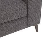 Cube Charcoal Armchair in Fabric - Thumbnail 7