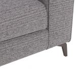 Cube Left Hand Grey Corner Sofa in Fabric - Thumbnail 6