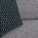 Cube Left Hand Grey Corner Sofa in Fabric - Thumbnail 7