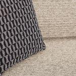 Cube Left Hand Beige Corner Sofa in Fabric - Thumbnail 6