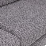 Cube Left Hand Grey Corner Sofa in Fabric - Thumbnail 5