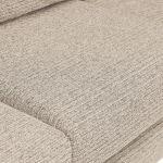 Cube Left Hand Beige Corner Sofa in Fabric - Thumbnail 4