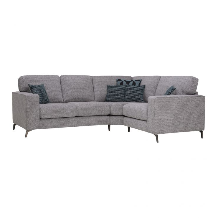 Cube Left Hand Grey Corner Sofa in Fabric