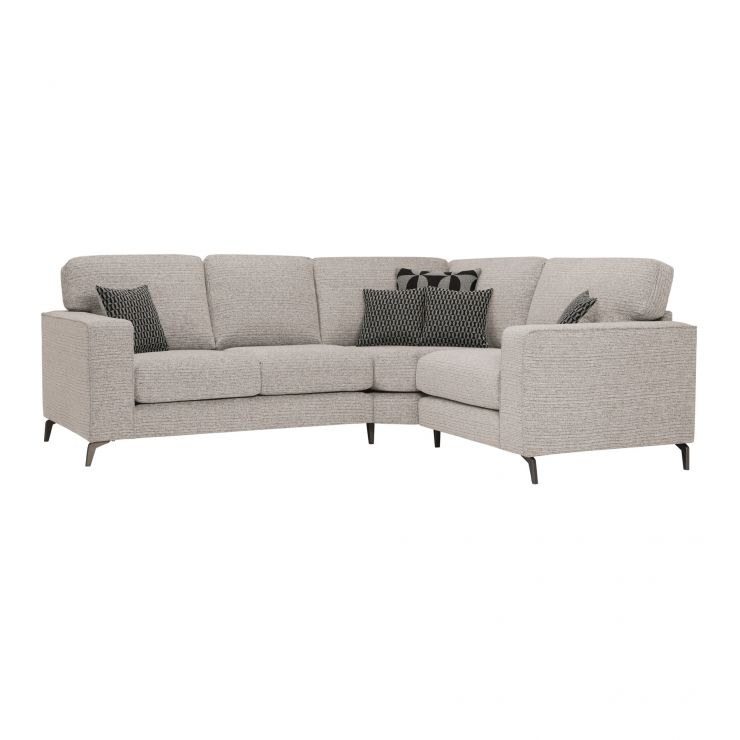 Cube Left Hand Stone Corner Sofa in Fabric - Image 1