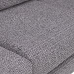 Cube Right Hand Grey Corner Sofa in Fabric - Thumbnail 5