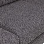 Cube Right Hand Charcoal Corner Sofa in Fabric - Thumbnail 5