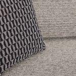 Cube Right Hand Stone Corner Sofa in Fabric - Thumbnail 7