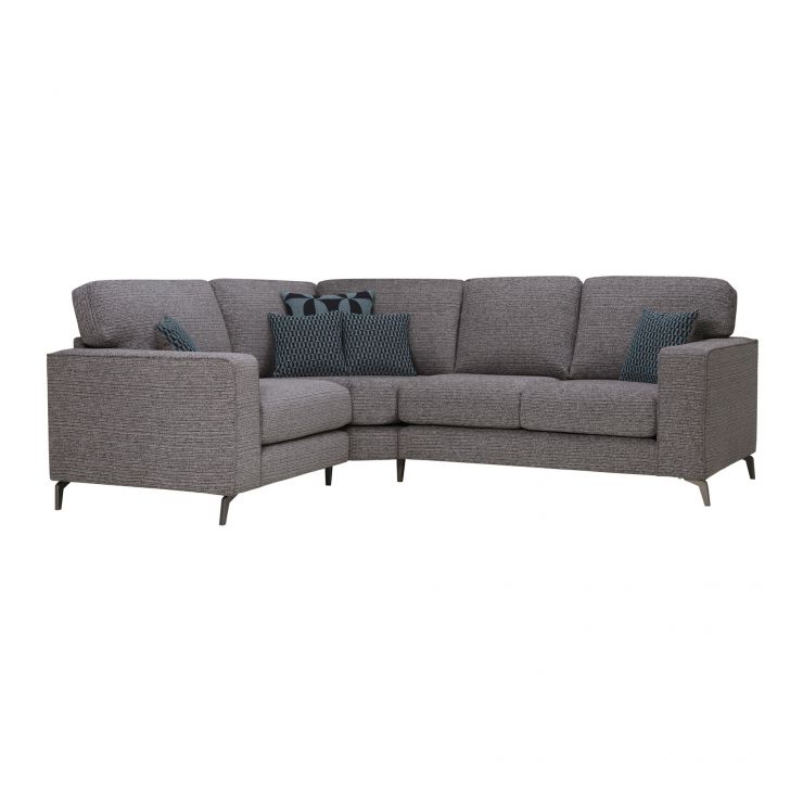 Cube Right Hand Charcoal Corner Sofa in Fabric