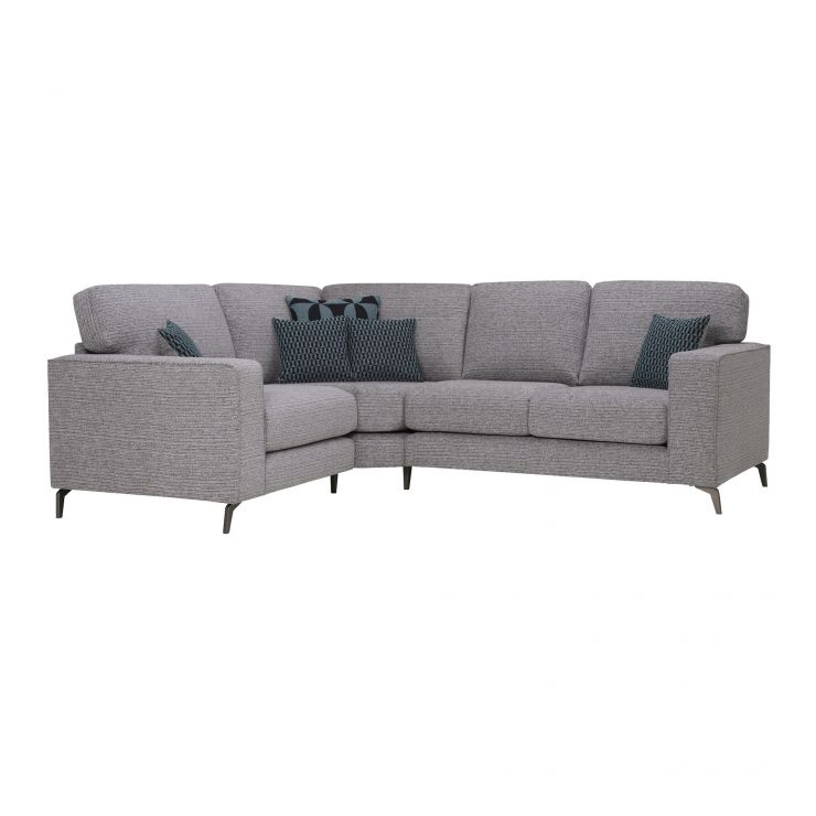 Cube Right Hand Grey Corner Sofa in Fabric