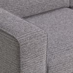 Cube Right Hand Grey Corner Sofa in Fabric - Thumbnail 4