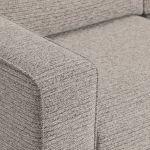 Cube Right Hand Stone Corner Sofa in Fabric - Thumbnail 4