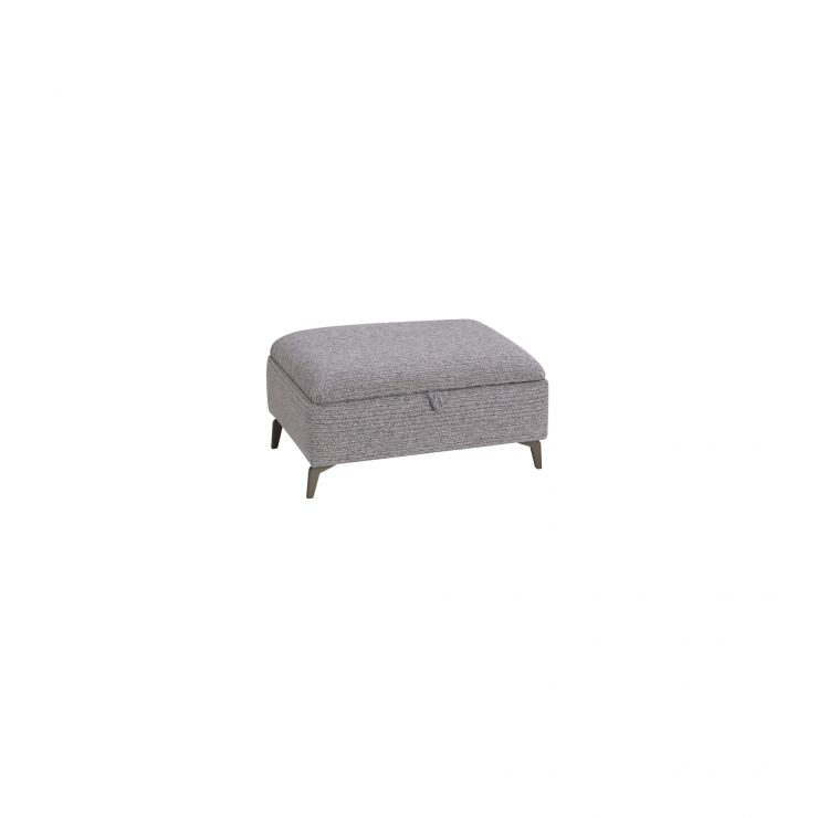Cube Grey Storage Footstool in Fabric
