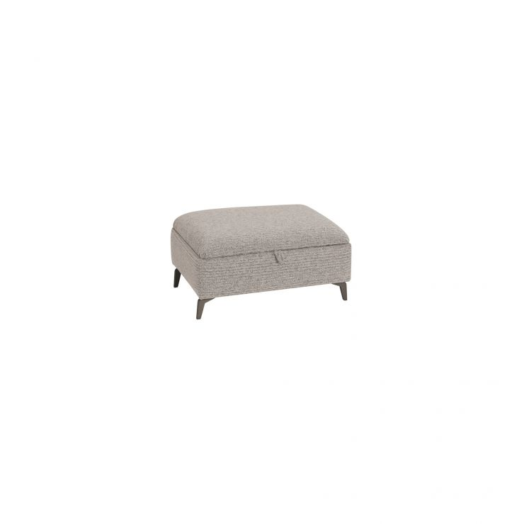 Cube Stone Storage Footstool in Fabric