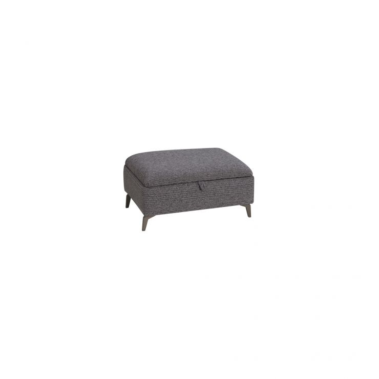Cube Charcoal Storage Footstool in Fabric