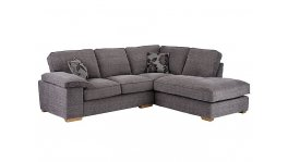 Denver Left Hand Facing Corner Sofa Grey Barley image