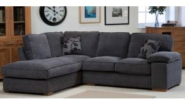 Denver Right Hand Facing Corner Sofa Grey Barley image