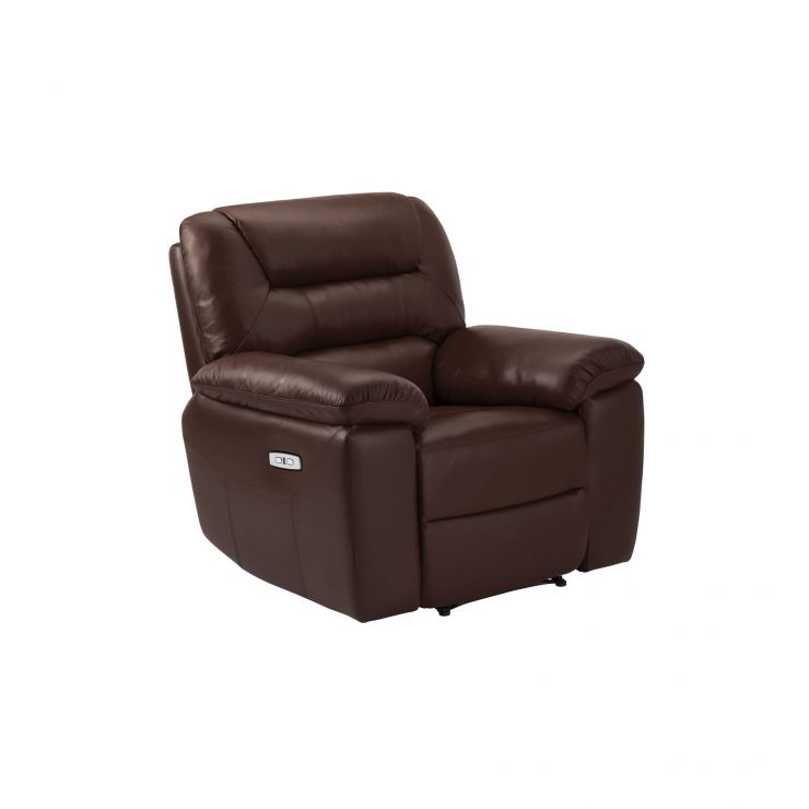 Devon 2 Tone Brown Leather Electric Recliner Armchair