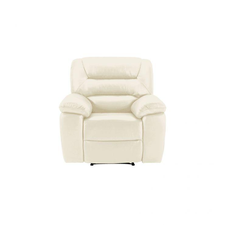 Devon Cream Leather Electric Recliner Armchair