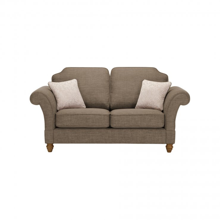 Dorchester 2 Seater High Back Sofa in Civic Pebble with Oyster Scatters - Image 1