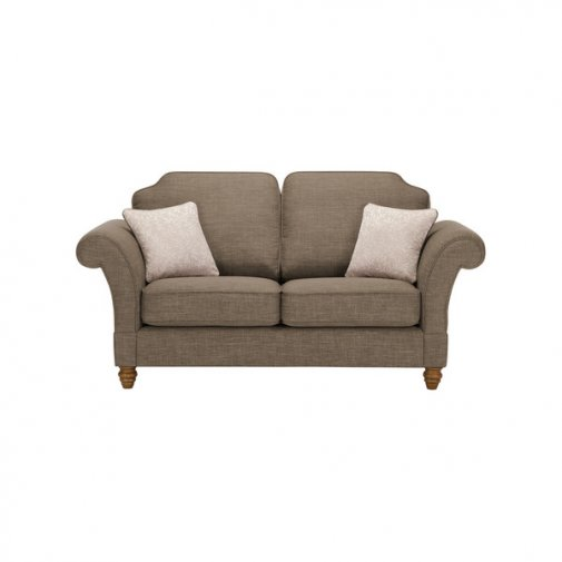 Dorchester 2 Seater High Back Sofa in Civic Pebble with Oyster Scatters