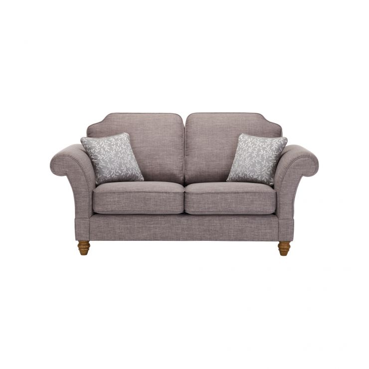 Dorchester 2 Seater High Back Sofa in Civic Smoke with Silver Scatters - Image 1