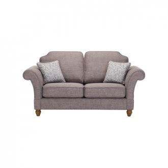 Dorchester 2 Seater High Back Sofa in Civic Smoke with Silver Scatters