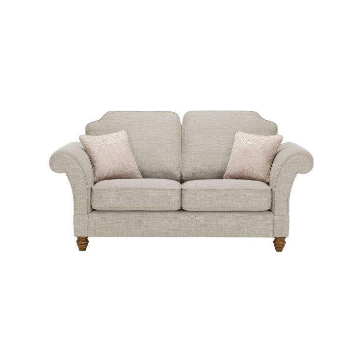 Dorchester 2 Seater High Back Sofa in Civic Stone with Oyster Scatters - Image 1