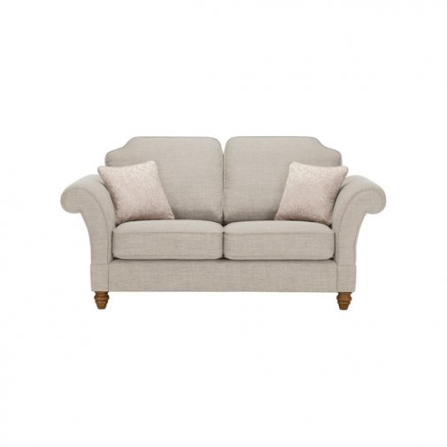 Dorchester 2 Seater High Back Sofa in Civic Stone with Oyster Scatters