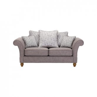Dorchester 2 Seater Pillow Back Sofa in Civic Smoke with Silver Scatters