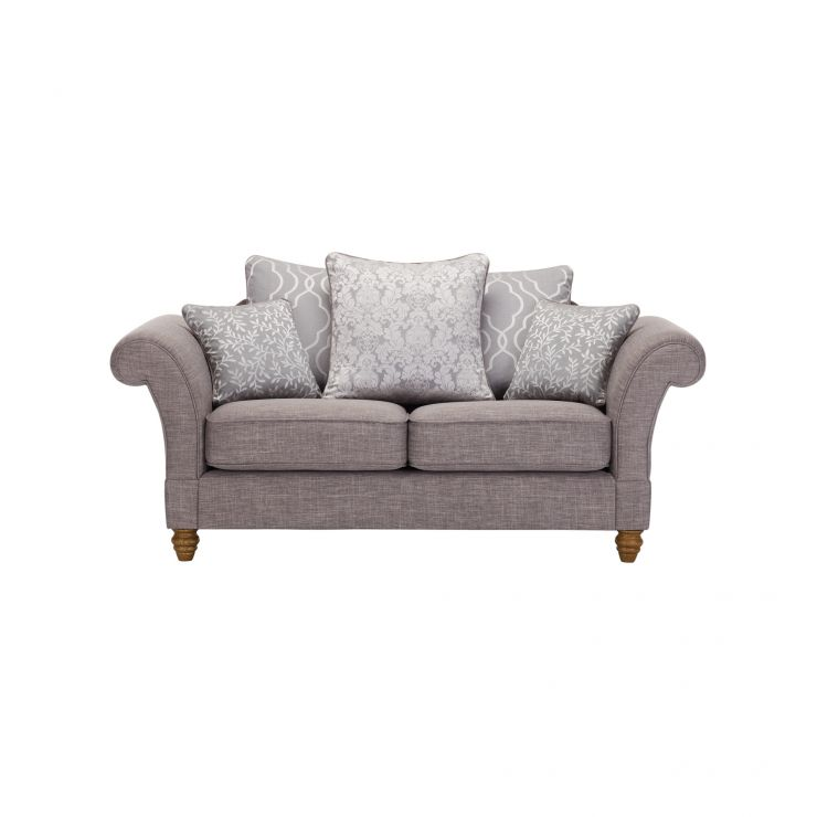 Dorchester 2 Seater Pillow Back Sofa in Civic Smoke with Silver Scatters - Image 1