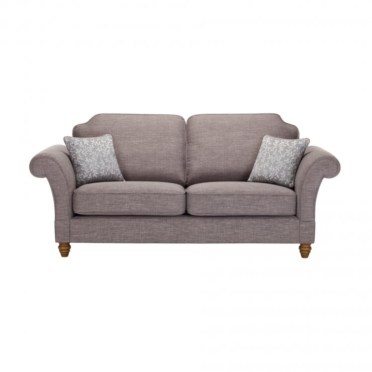 Dorchester 3 Seater High Back Sofa in Civic Smoke with Silver Scatters - Image 1