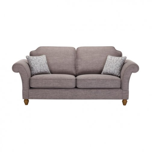 Dorchester 3 Seater High Back Sofa in Civic Smoke with Silver Scatters
